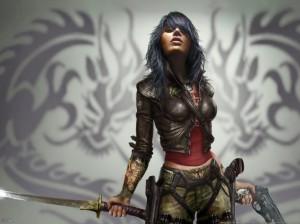 Tatuaggi-Donne-Video-Games-Capelli-Blu-Fantasy-Art-Wet-Videogiochi-768x1024