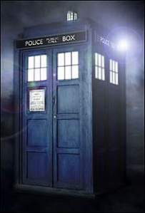 Doctor Who TARDIS in flight