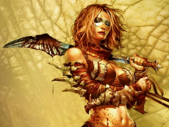 Fantasy warrior woman Wallpaper__yvt2